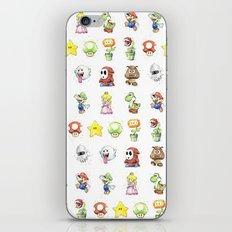 Mario Characters Watercolor Geek Gaming Videogame iPhone & iPod Skin
