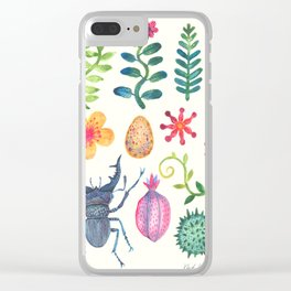 Along the Forest Road Clear iPhone Case