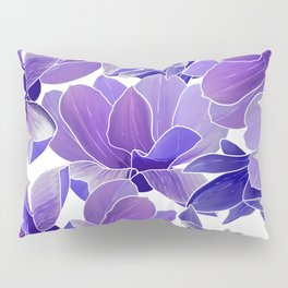 Modern hand painted lilac lavender watercolor floral Pillow Sham