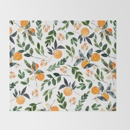 Orange Grove Throw Blanket