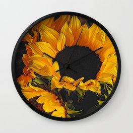 Sunflower Close Up Wall Clock