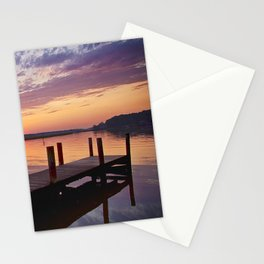 Sunset at Denbigh Pier Stationery Cards