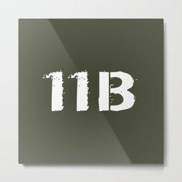 11B Infantryman Metal Print