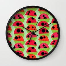 Leaf and Ladybird Wall Clock