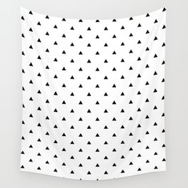 Triangles, Geometric, Print, Scandinavian, Abstract, Pattern, Modern art Wall Tapestry