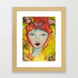 Inspiration Alights - Gold Lotus Oracle Series Framed Art Print