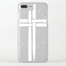 Drum Stick Cross print, Drummer product Clear iPhone Case