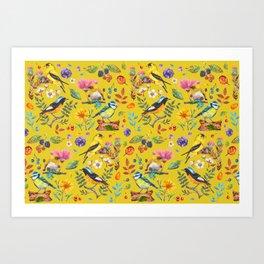 Birds nature - YBG Art Print