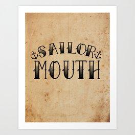Sailor Mouth Art Print