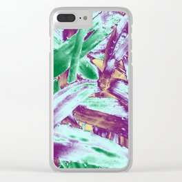 Tropical texture in gradient of several colours ready for many products Clear iPhone Case