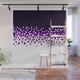 Flat Tech Camouflage Reverse Purple Wall Mural