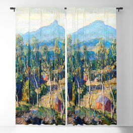 Ernest Lawson New England Birches Blackout Curtain