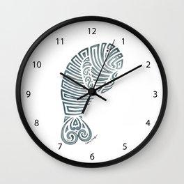Tribal Manatee Wall Clock