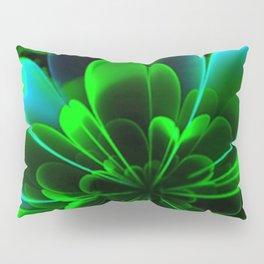 Abstract Green Flower Pillow Sham