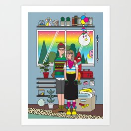 The Apartment of Quirks Art Print