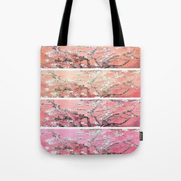 Vincent Van Gogh Almond Blossoms Panel Pink Peach Tote Bag