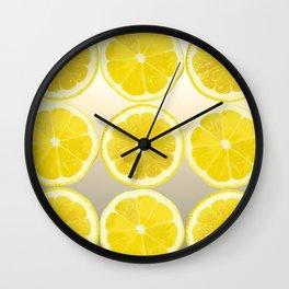 Lemon Slice Collage Juicy Fruit Wall Clock