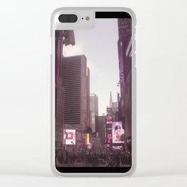 Time Square in the Pink Clear iPhone Case
