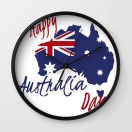 Happy Australia Day 2018 Wall Clock