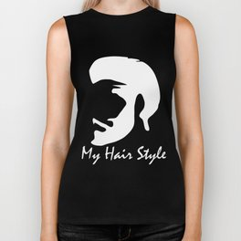 my hair style funny 2 Biker Tank