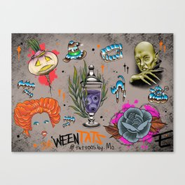 Blessed Ween Tat Flash Canvas Print