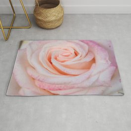 Pink Rose close up Rug