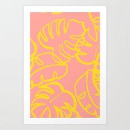 coral palm. Art Print