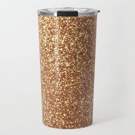Bright Shiny Spanish Galleon Gold Glitter Travel Mug