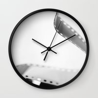 film Wall Clocks featuring Film  by Bree Madden