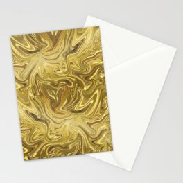 Rich Gold Shimmering Glamorous Luxury Marble Stationery Cards