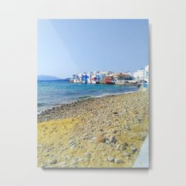 Little Venice Mykonos Metal Print