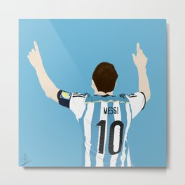 Leo Messi - Argentina Metal Print