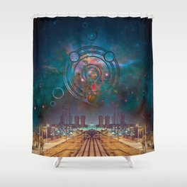 Industrial Intervention Shower Curtain