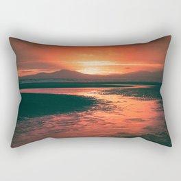 Harlech Beach Sunset (Autumn Edit) Rectangular Pillow