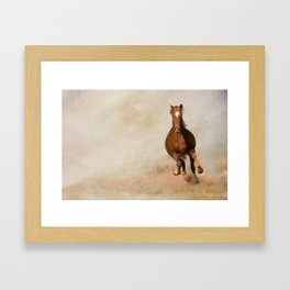 Galloping Horse Framed Art Print