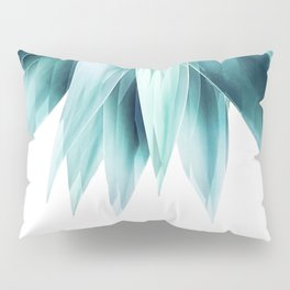 Agave geo fringe - teal Pillow Sham