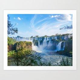 Majestic Iguazu Waterfalls Fine Art Print Art Print