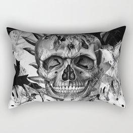 Black White Boho Skull Rectangular Pillow