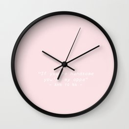 AHN YO NA; KILL ME HEAL ME Wall Clock