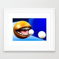 pacman Framed Art Prints featuring PacMan by Joshua A. Biron