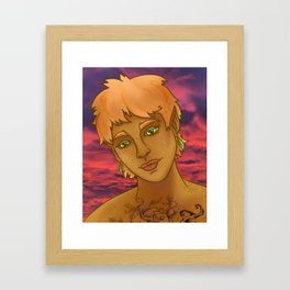 Phann Oakwood - Portrait at Sunset Framed Art Print