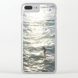 Ocean Shimmer Clear iPhone Case