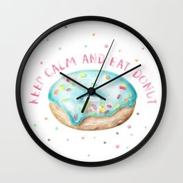 Keep Calm & Eat Donut Wall Clock