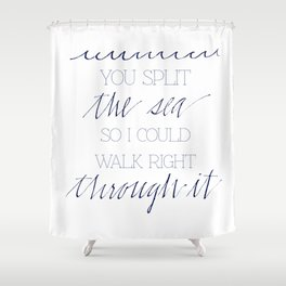 Split the Sea Shower Curtain