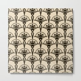Seamless antique pattern art deco stylish print Metal Print
