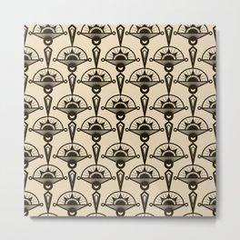 Seamless antique pattern art deco stylish print Metal Print