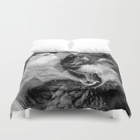 wolves Duvet Covers featuring Wolves by Ricca Design Co.