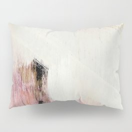 Sunrise [2]: a bright, colorful abstract piece in pink, gold, black,and white Kissenbezug