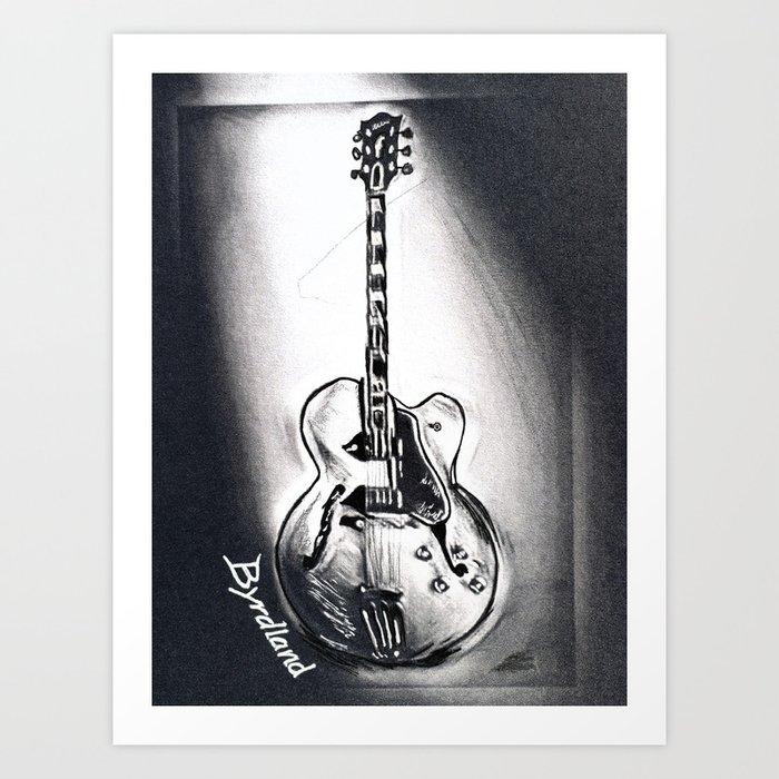 Gibson Byrdland Guitar Music Art Rock