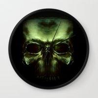 aliens Wall Clocks featuring Aliens by Jav S.